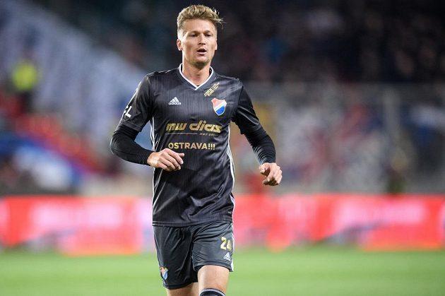 Václav Procházka z Baníku Ostrava během utkání na Slavii.