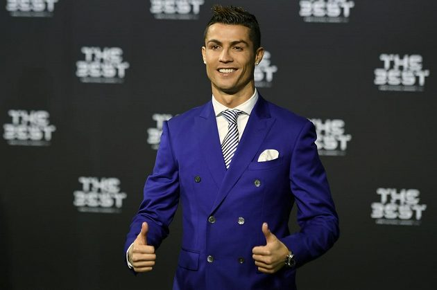 Cristiano Ronaldo na vyhlášení v Curychu.
