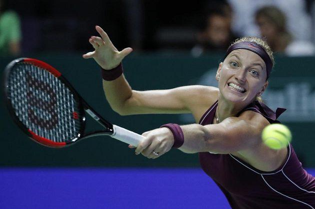 Petra Kvitová na letošním Turnaji mistryň v Singapuru zatím radost z výhry neokusila.