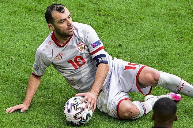 Goran Panděv při derniéře v reprezentačním dresu Severní Makedonie.