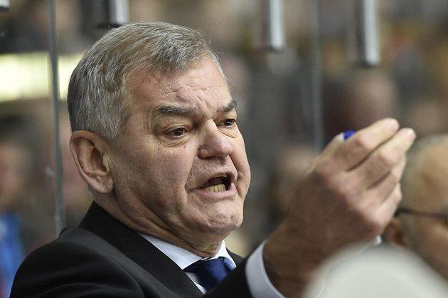Trenér českého týmu Vladimír Vůjtek při utkání se Švédy.