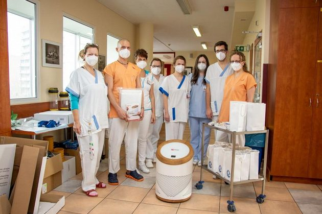 Ostravské oddělení pro pacienty s onemocněním covid-19.