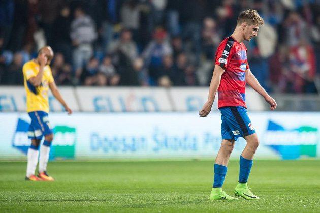 Plzeňský záložník Martin Chrien během utkánís Teplicemi.