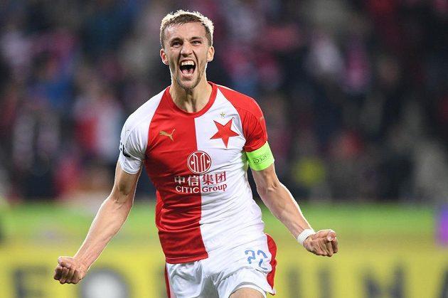 Tomáš Souček poslal fotbalovou Slavii dělovkou do vedení v duelu s Baníkem Ostrava.