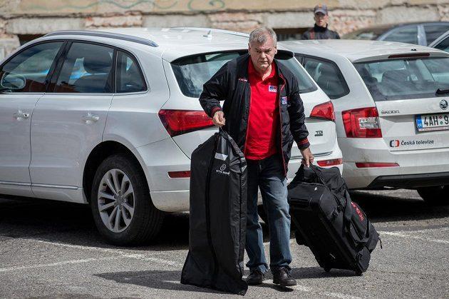 Trenér Vladimír Vůjtek na srazu hokejové reprezentace ve Znojmě.