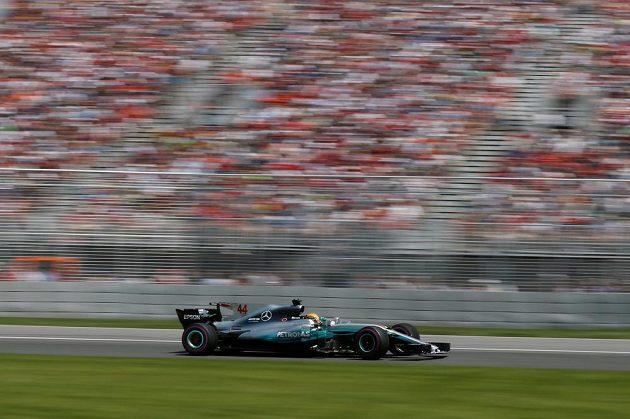Lewis Hamilton na Mercedesu při Velké ceně Kanady.