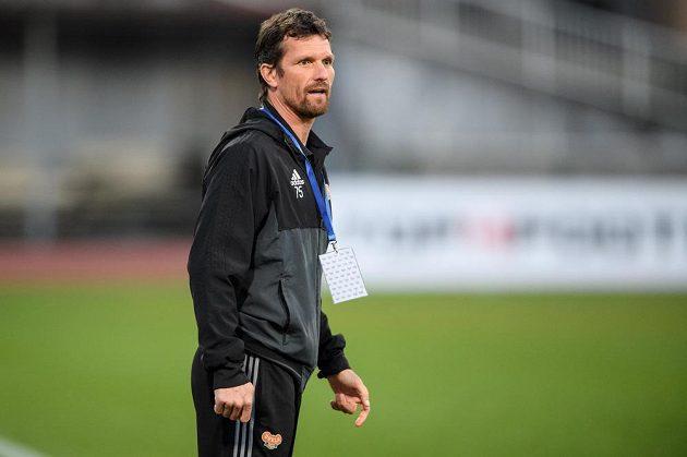 Trenér Dukly Praha Jaroslav Hynek během utkání 24. kola HET ligy, FK Dukla Praha - FC Slovan Liberec.