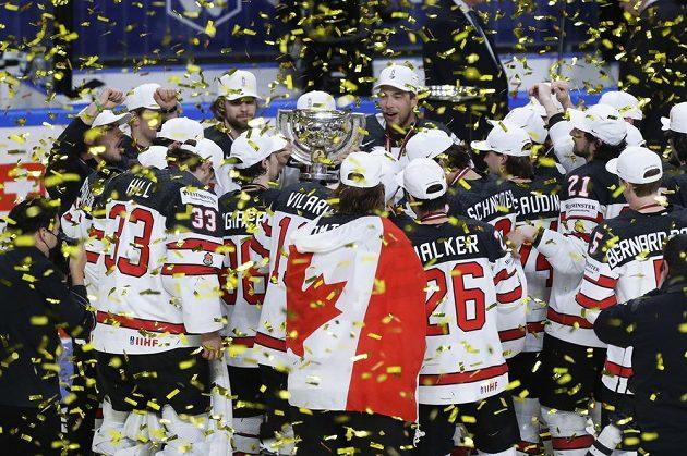 Zlatá radost kanadských hokejistů.