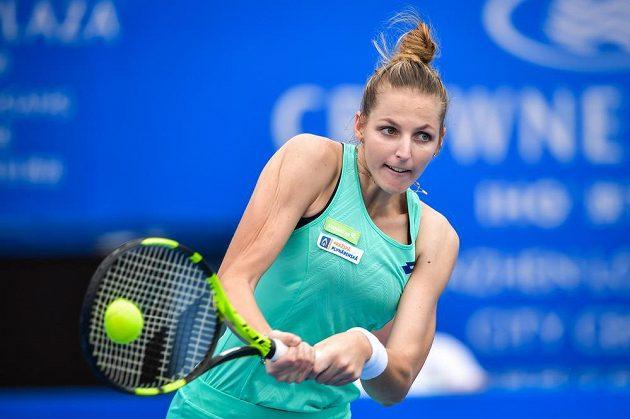 Kristýna Plíšková na turnaji v Šen-čenu