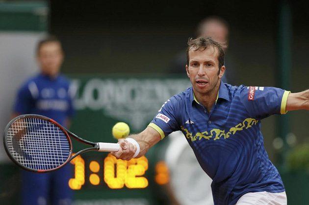Radek Štěpánek v prvním kole French Open.
