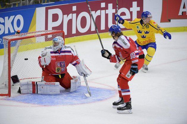 Švédská radost, Oscar Möller přidal další gól do české branky na úvod turnaje Karjala.