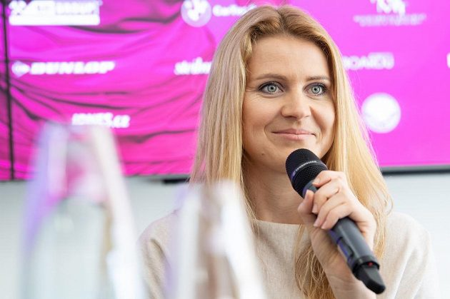 Tenistka Lucie Šafářová během tiskové konference k letošnímu ročníku tenisového turnaje Prague Open 2019.