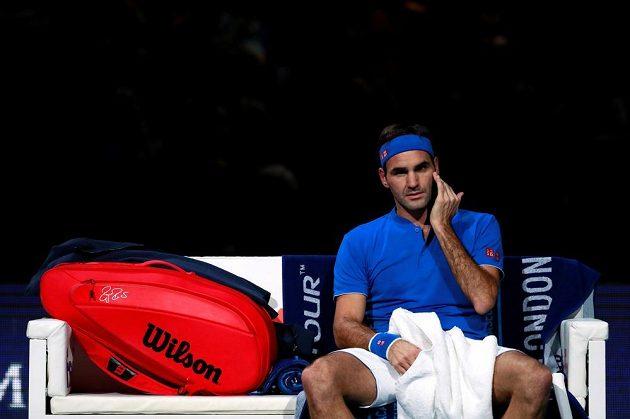 Roger Federer mohl být s prvním setem spokojen