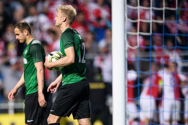 Jablonecký obránce Jaroslav Zelený ve finále MOL Cupu.