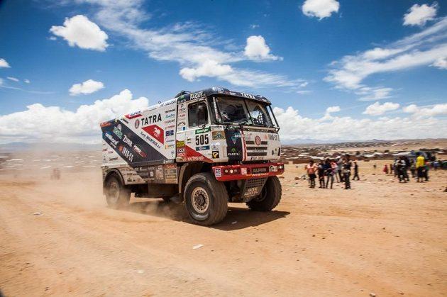 Martin Kolomý na trati 6. etapy Rallye Dakar.