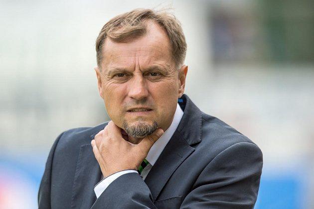 Trenér Příbrami Martin Pulpit během utkání s Plzní.