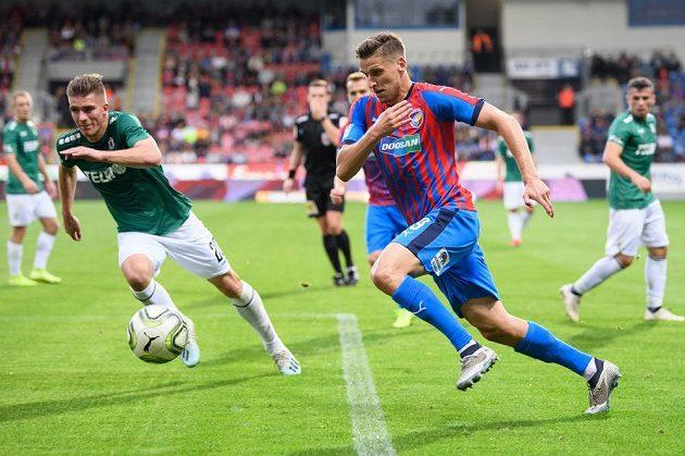 Jan Kovařík z Viktorie Plzeň během utkání 9. kola Fortuna ligy s Jabloncem.