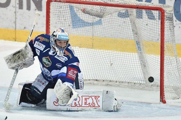 Brankář Brna Marek Čiliak při prvním finále s Libercem.