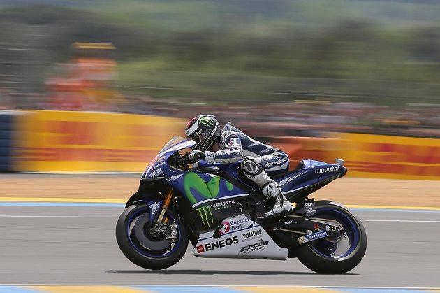 Španělský cyklista Jorge Lorenzo během Velké ceny Francie v Le Mans.