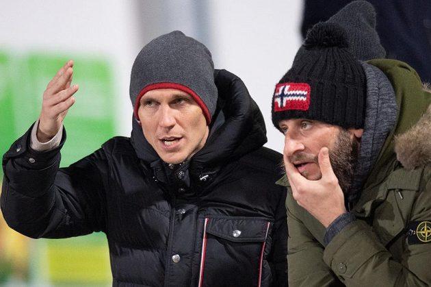 Bořek Dočkal (vlevo) a David Bičík během utkání na Julisce v Praze.