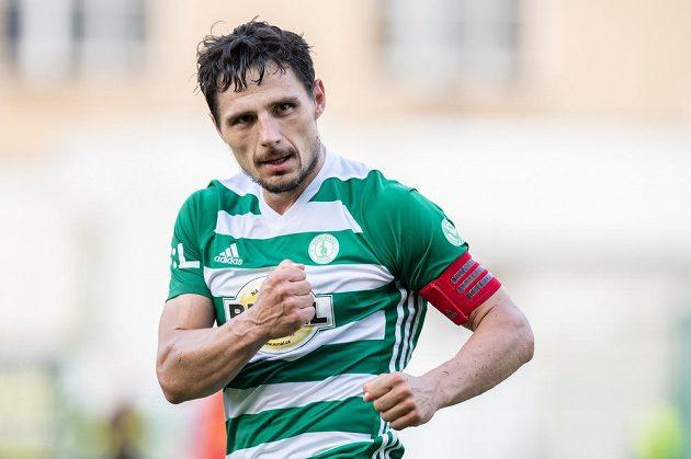 Josef Jindřišek z Bohemians oslavuje gól na 1:1 během utkání nadstavby Fortuna ligy ve skupině o záchranu s Opavou.