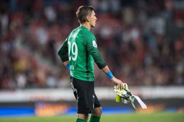 Brankář Slovácka Milan Heča po utkání se Spartou.