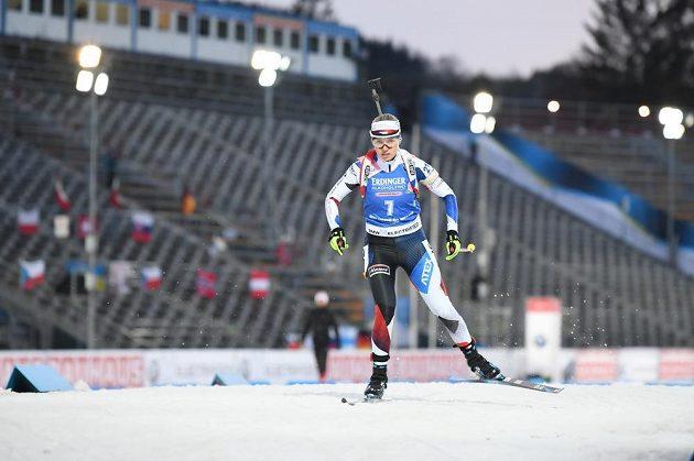 Eva Kristejn Puskarčíková při sprintu v Novém Městě na Moravě.