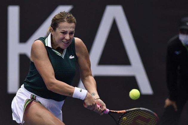Ruská favoritka Anastasija Pavljučenkovová nedala v Ostravě svůj skalp lacino.