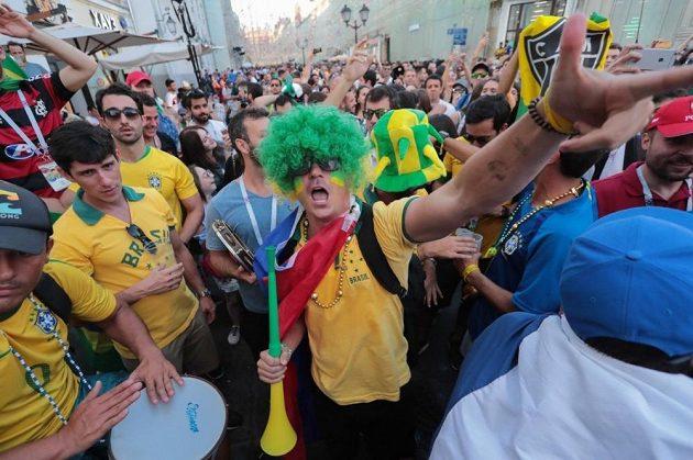 Brazilští fanoušci během MS v Rusku.