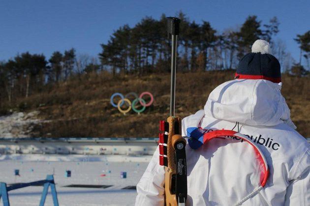 Ilustrační foto z tréninku v Alpensia Biathlon Centre před zahájením zimních olympijských her v jihokorejském Pchjončchangu.