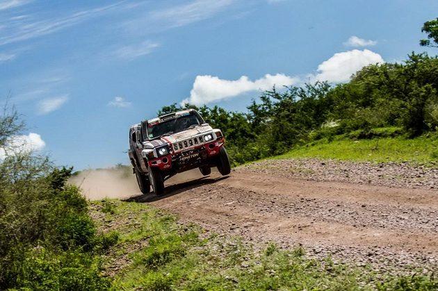 Tomáš Ouředníček na trati 2. etapy Rallye Dakar.