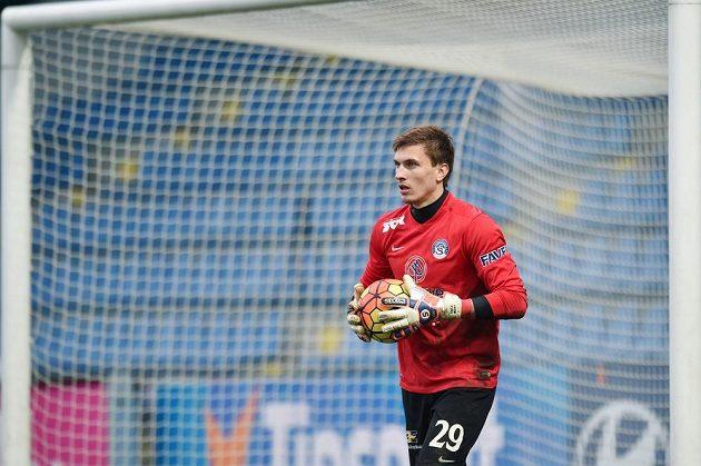 Brankář Slovácka Milan Heča v Liberci nepustil ani jeden gól.