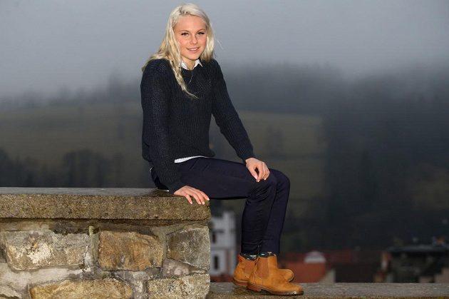 Barbora Havlíčková ve Vimperku, kde žije.
