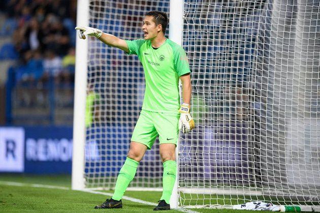 Brankář Slovan Liberec Filip Nguyen během utkání 7. kola Fortuna ligy se Spartou.
