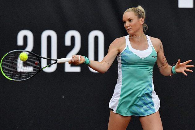Tereza Martincová v utkání proti Kristýně Plíškové.