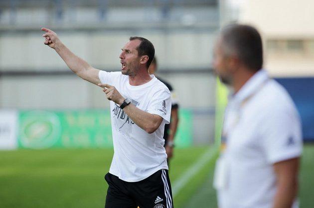 Trenér Olomouce Radoslav Látal během utkání se Zlínem.