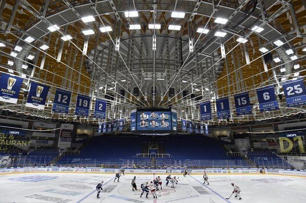 Hala Komety Brno během čtvrtfinále hokejové extraligy s HC Oceláři Třinec.