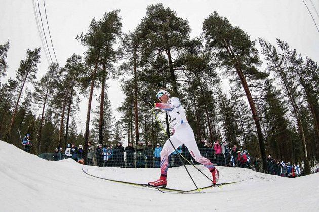 Petr Knop při klasické patnáctce na MS v Lahti.