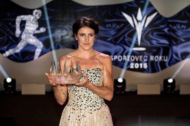 Atletka Zuzana Hejnová, vítězka ankety Sportovec roku 2015.