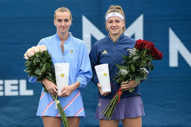 Petra Kvitová a Karolína Muchová po finále tenisového turnaje, O pohár prezidenta ČTS