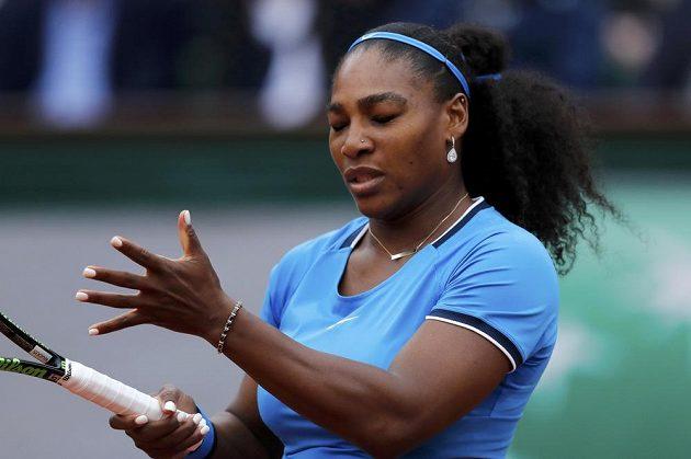 Serena Williamsová během finále French Open.