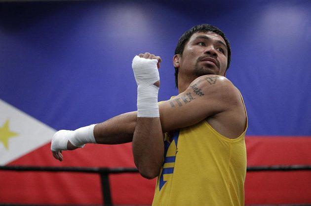 Pacquiao během tréninku.