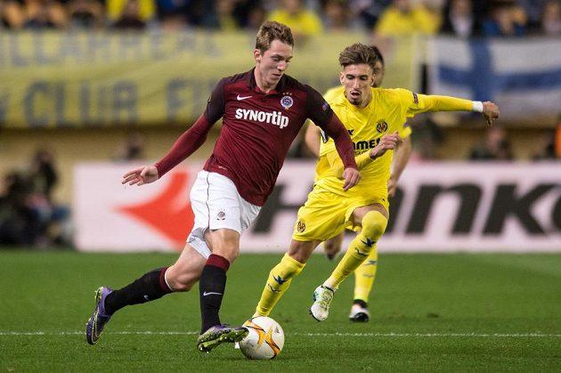 Lukáš Juliš během utkání čtvrtfinále Evropské ligy s Villarrealem.