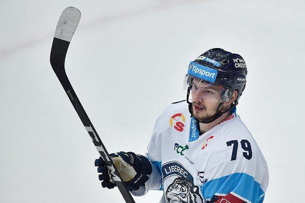Autor rozhodujícího čtvrtého gólu Libor Hudáček z Liberce.