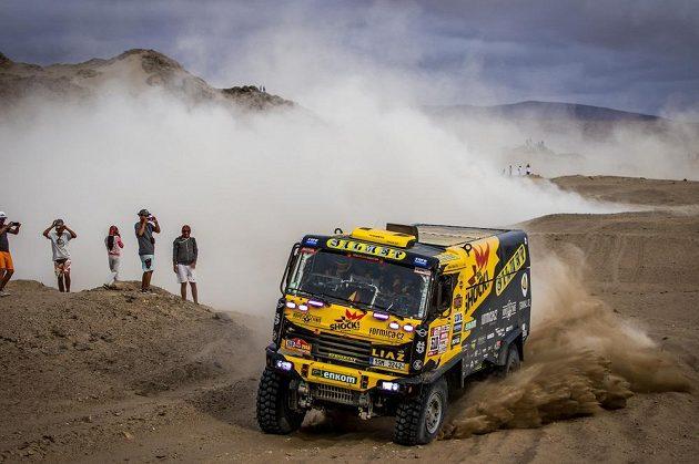Martin Macík během 4. etapy Rallye Dakar.