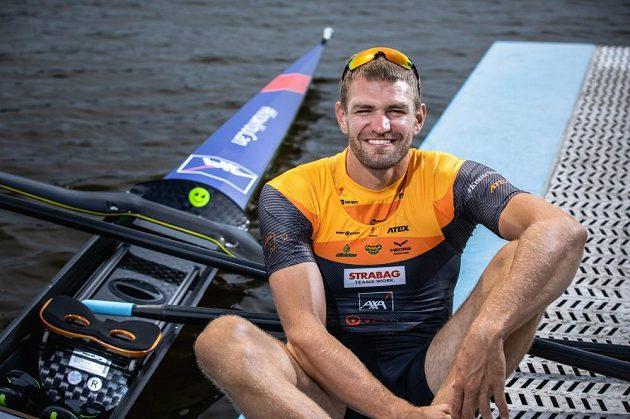 Dobře naladěný český reprezentant - skifař Ondřej Synek.