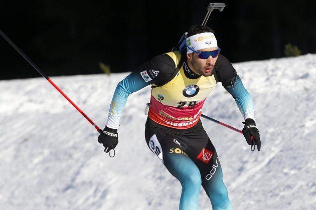 Martin Fourcade z Francie při SP v Pokljuce v závodě na 20 km.