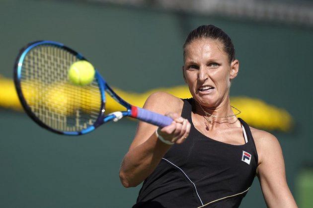 Česká tenistka Karolína Plíšková dohrála v Indian Wells ve 3. kole.