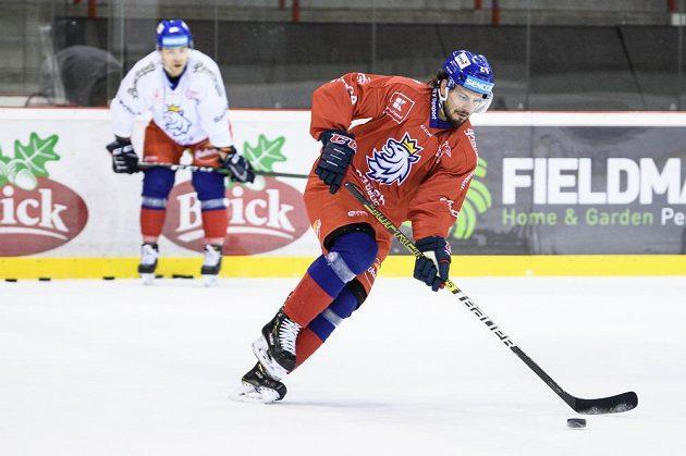 Martin Zaťovič během tréninku hokejové reprezentace před turnajem Beijer Hockey Games.