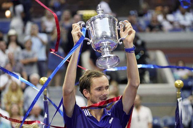 Ruský tenista Daniil Medveděv po finále US Open.